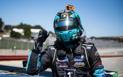 Paul Miller Racing's Corey Lewis scores pole at Laguna Seca