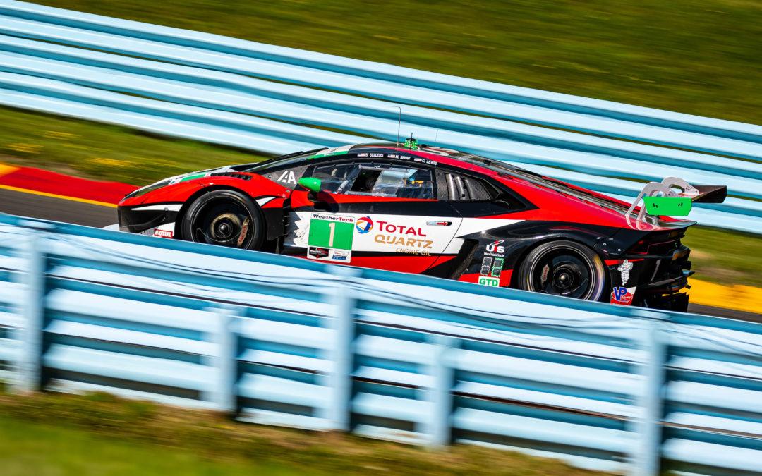 Podium for Paul Miller Racing in Watkins Glen six-hour