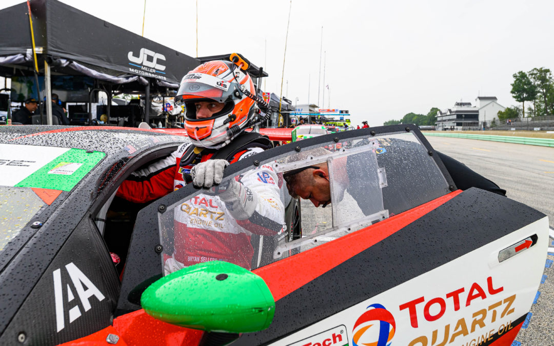 Sellers shines in damp conditions at Road America