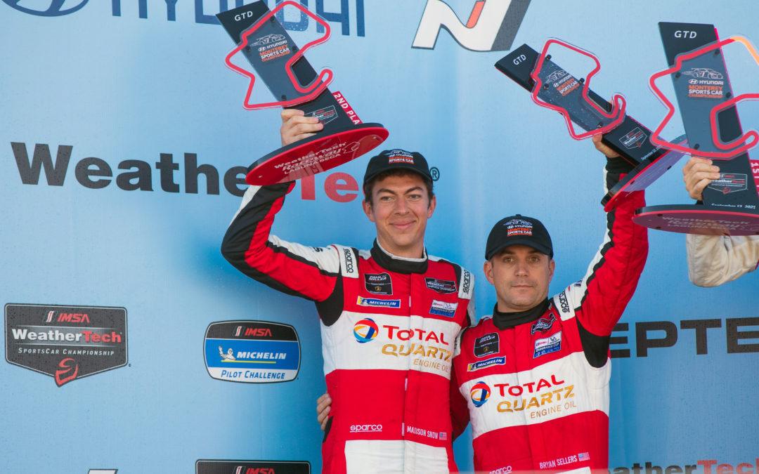 Podium performance for Paul Miller Racing at Laguna Seca
